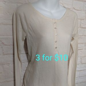 Cream button long sleeve xs 3for10